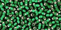 Toho Silver-Lined Frosted - Green Emerald (10 g)