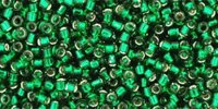 Toho Treasures Silver-Lined - Green Emerald (5 g)