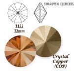 SWAROVSKI ELEMENTS RIVOLI 1122 CRYSTAL (001) COPPER (COP) 12mm