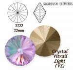 SWAROVSKI ELEMENTS RIVOLI 1122 CRYSTAL (001) VITRAIL LIGHT (VL) 12mm