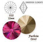 SWAROVSKI ELEMENTS RIVOLI 1122 FUCHSIA (502) 12mm