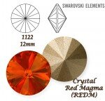SWAROVSKI ELEMENTS RIVOLI 1122 RED MAGMA (REDM) 12mm
