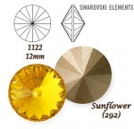 SWAROVSKI ELEMENTS RIVOLI 1122 SUNFLOWER (292)  12mm