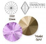 SWAROVSKI ELEMENTS RIVOLI 1122 VIOLET (371) 12mm