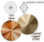 SWAROVSKI ELEMENTS RIVOLI 1122 CRYSTAL (001) COPPER (COP) 14 mm