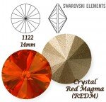 SWAROVSKI ELEMENTS RIVOLI 1122 RED MAGMA (REDM) 14 mm