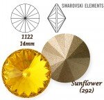 SWAROVSKI ELEMENTS RIVOLI 1122 SUNFLOWER (292) 14 mm