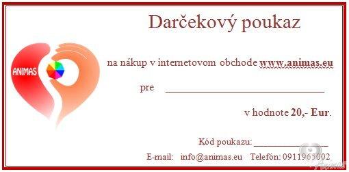 Darčekový poukaz v hodnote 20 € aae7685d17e
