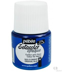 Farby na textil Setacolor opaque - Oriental blue 56 (45 ml)