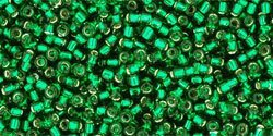 Toho Round Silver-Lined - Green Emerald TR-15-36 (5 g)