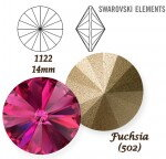 SWAROVSKI ELEMENTS RIVOLI 1122 FUCHSIA (502)  14 mm