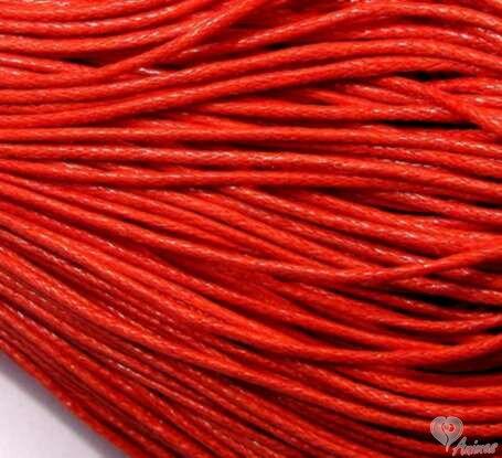 b8889062df Voskovaná šnúrka 1 mm - červená
